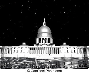 capitol - digital rendering of the capitol