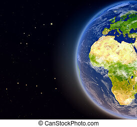 Europe and Africa from space