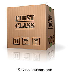 first class delivery or shipment important package sending...