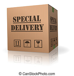 special delivery important shipment - special delivary...