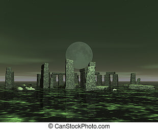 stonehenge - digital visualization of stonehenge