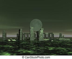 stonehenge - digital visualization of stonehenge