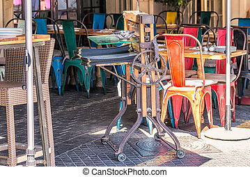 Flea market at old city of Jaffo, Tel Aviv, Israel.