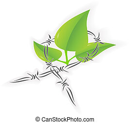 Save nature vector illustration isolated over white
