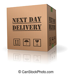 next day delivery cardboard box