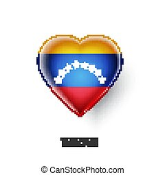 Patriotic heart symbol with Venezuela flag