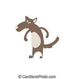 Timber wolf personage vector illustration isolated on white...