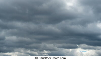 Moving heavy clouds - Timelapse of moving heavy grey clouds...