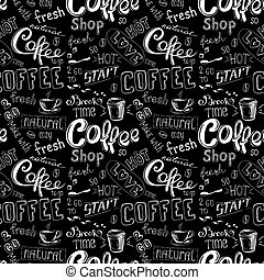 seamless doodle coffee pattern background - seamless doodle...