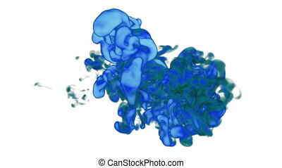 Abstract blue Ink or smoke background with alpha mask. VFX Cloud of Ink for transitions, background, overlay and effects. For alpha channel use alpha matte. 3d render Ver 5