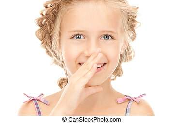 gossip  - bright picture of lovely girl whispering gossip