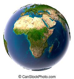 realístico, planeta, terra, natural, água