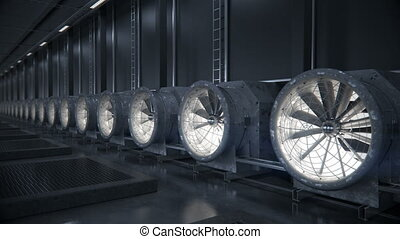 Cooling system for data center.