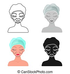 Cosmetic plastic surgery icon in cartoon style isolated on white background. Skin care symbol stock vector illustration.