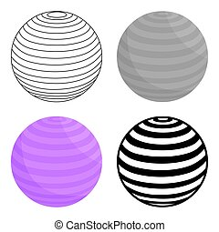 Fitness ball icon cartoon. Single sport icon from the big fitness, healthy, workout set.