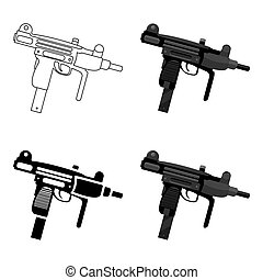 UZI weapon icon cartoon. Single weapon icon from the big...