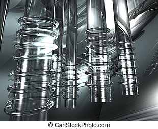 glass tubes - digital rendering of glass tubes