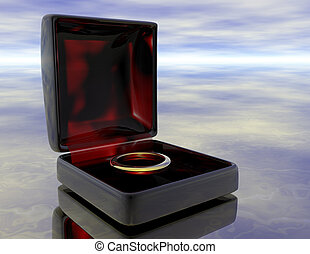 ring - digital rendering of a golden ring