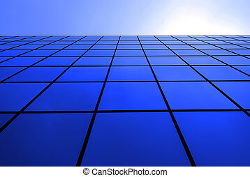 Modern Office Building with Reflecting Windows