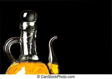 Olive oil in vintage glass jar