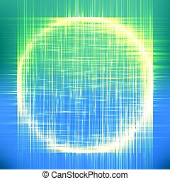 Abstract vector colorful mesh background. Black hole or...
