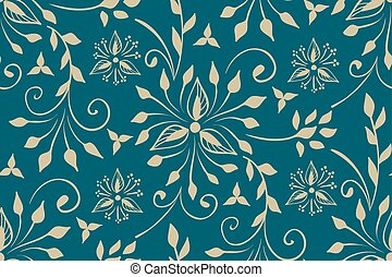 Vector floral seamless pattern element in Arabian style. Arabesque pattern. Eastern ethnic ornament. Elegant texture for backgrounds.