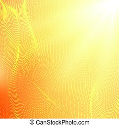 Abstract vector orange point mesh background. Futuristic...