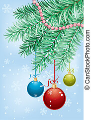 Christmas background with baubles, element for design,...