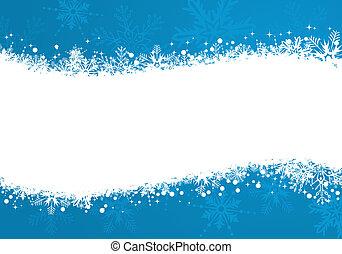 Christmas frame - Grunge Christmas frame with snowflakes,...