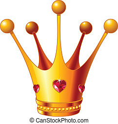 Princess crown - Beautiful illustration of a gold Princess...