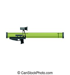 Anti tank rocket propelled grenade launcher, Bazooka. Military weapon vector Illustration
