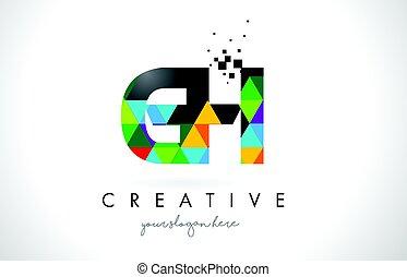 colorido, G, H, textura, diseño, vector, carta, logotipo,...