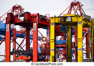 Container Terminal in Hamburg