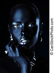 wealth and jewellery - Fashion jewellery concept. Portrait...
