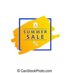 summer sale symbol message in frame illustration