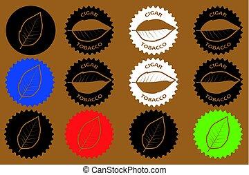 tobacco cigar sticker - vector illustration
