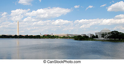 Washington Monument - Panoramic view of Washington Monument...