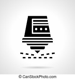 Industrial laser cutter glyph style vector icon - Abstract...