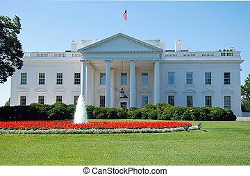 el, blanco, casa, Washington, CC