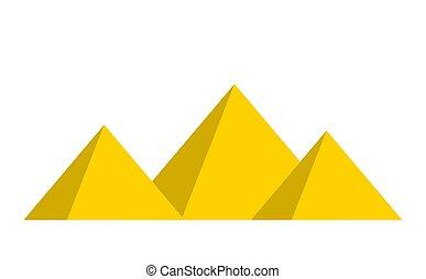 egyptian pyramids vector symbol icon design