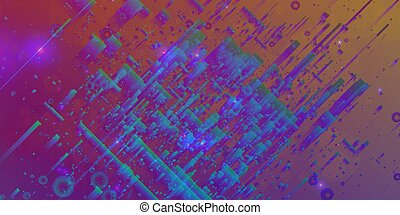 Abstract vector mesh background. Random polygons and flares....