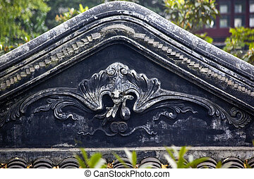 Chinese Bat Statue Roof Tile Garden of the Humble...