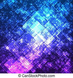 Abstract vector mesh background. Random transparent squares....