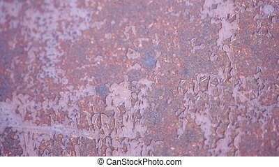 Metallic rusty texture with shabby paint for background