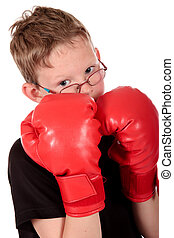 Young boy boxer