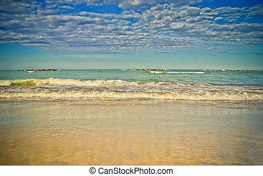 Adriatic seascape and cloudscape