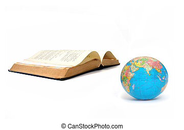 Education - Globe atlas and an open book