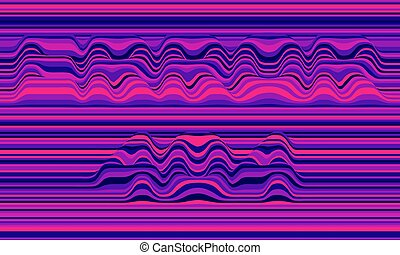 Error 404. Vector striped background. Abstract color waves....