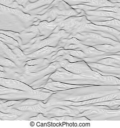 Vector striped grayscale background. Abstract line waves....