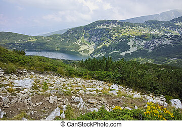 Amazing Landscape of The The Lower lake, The Seven Rila...